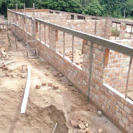 Ein Dach für den Bauabschnitt 1
